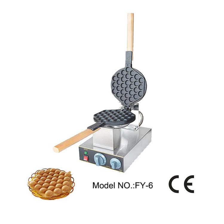 Bubble waffle machine