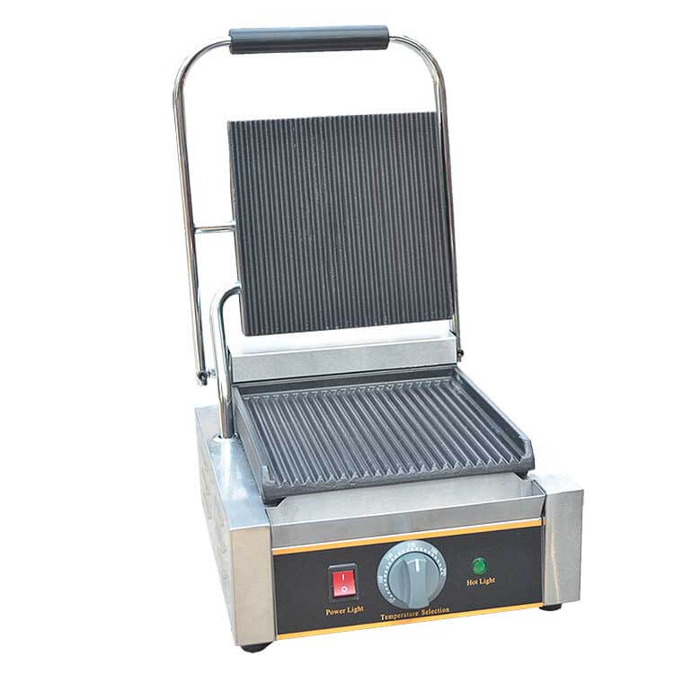 Grooved Plate Contact Grill