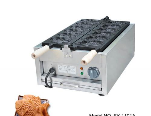Commercial Taiyaki Maker Closed Mouth Fish Taiyaki Machine