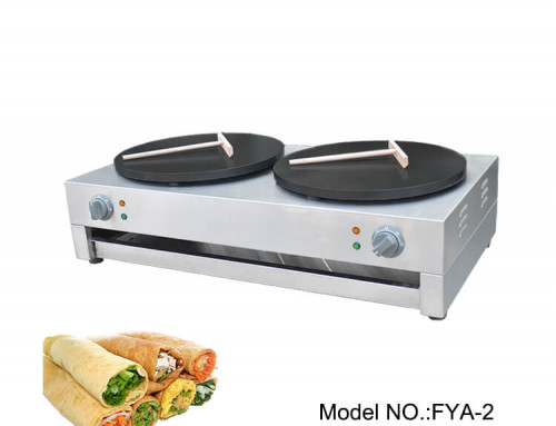 Commercial Crepe Makers Double Plate Crepe Making Machine