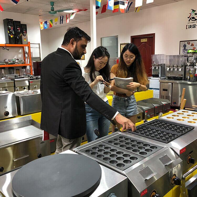 Electric takoyaki maker kitchen equipment manufacturer