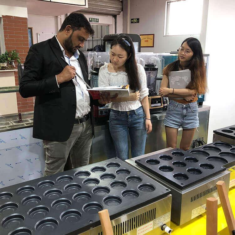 Welcome India clients visit goodloog kitchen equipment supplier showroom