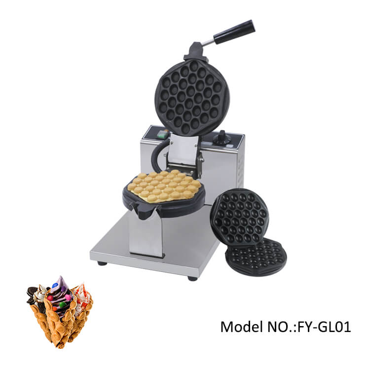 Commercial bubble waffle maker