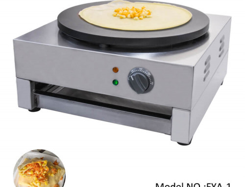 Commercial Crepe Maker with Non-sticky Cast Iron Plate