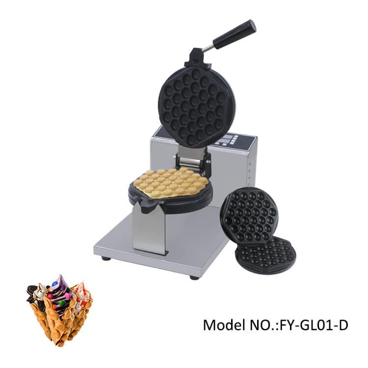 Bubble egg waffle maker