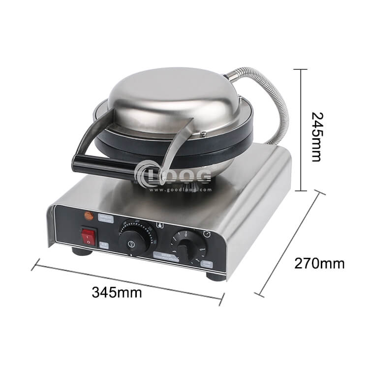 size of best belgian waffle maker