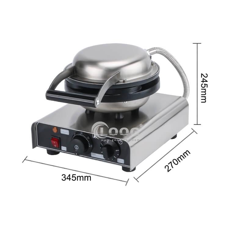 size of flip waffle maker