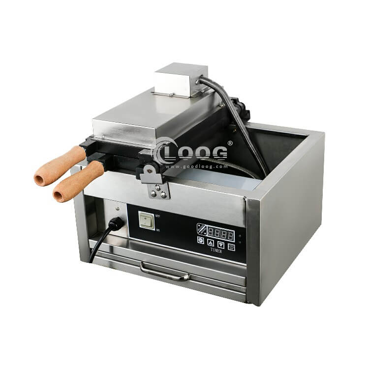 Electric ball waffle maker for commercial