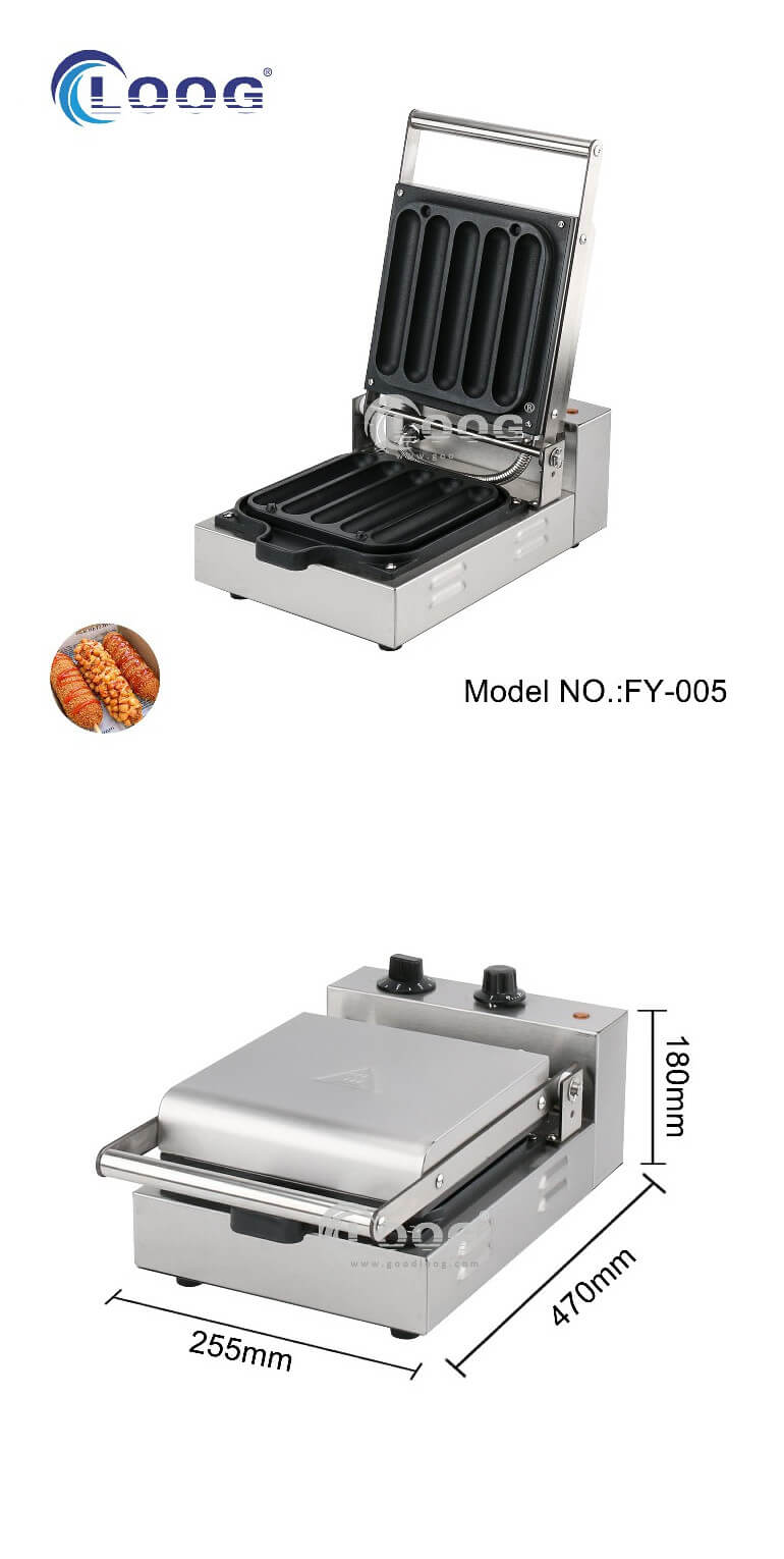 commercial electric hot dog waffle maker